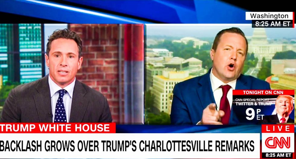 WATCH: CNN's Cuomo trades insults with GOP candidate blaming liberals for Charlottesville violence
