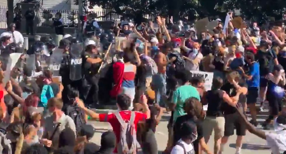 'Insanity outside the White House': After Trump stokes tensions, fresh clashes between police and protesters