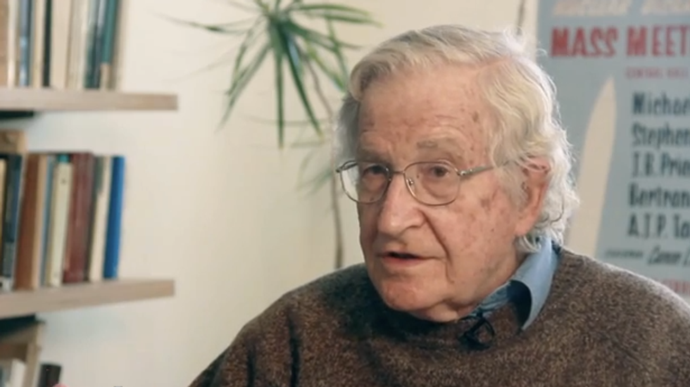 Noam Chomsky: U.S. used to have people killed for practicing what Pope Francis preaches
