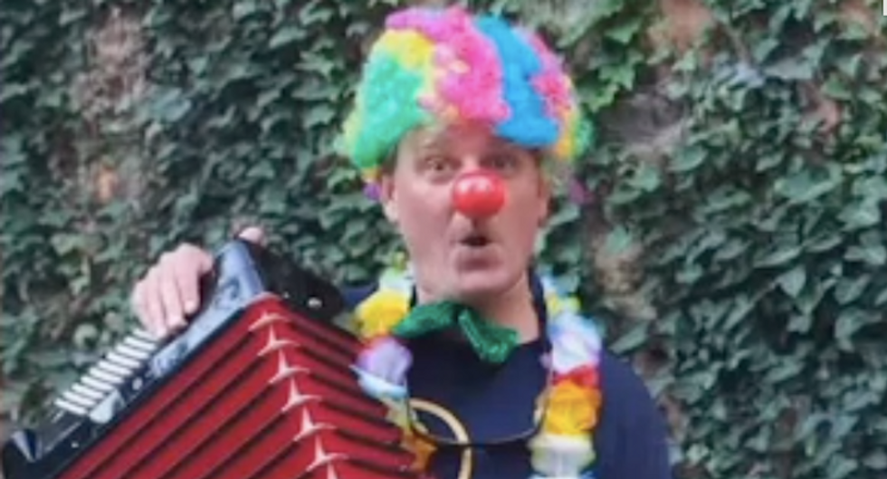 Virginia man seeks revenge on neo-Nazi robocaller by hiring clowns to play accordions in front of his home