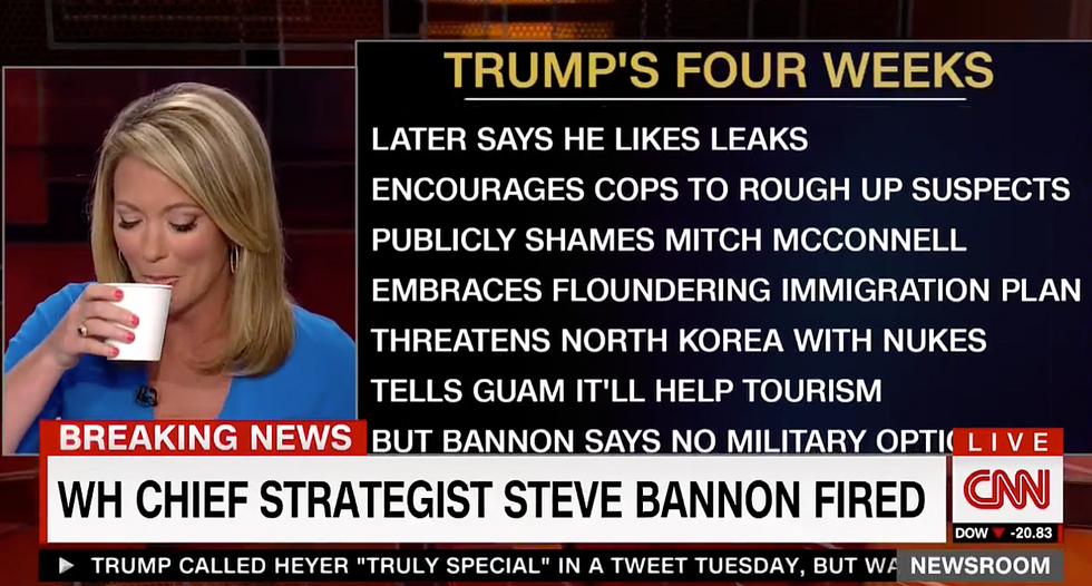 'Sorry this is long': Watch CNN's Baldwin stop for water as she tries to read an unending list of Trump failures