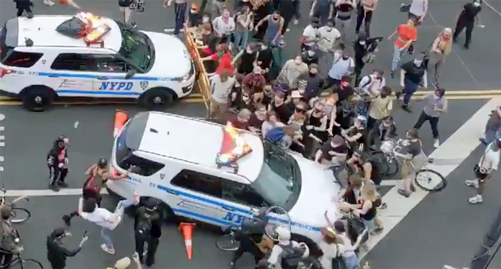 BUSTED: Videos document NYPD mowing down protesters with police cruisers