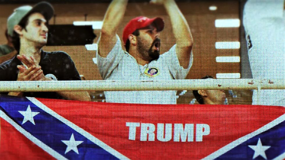 Trump's Confederacy-loving fans accused of treason in brutal new Lincoln Project ad