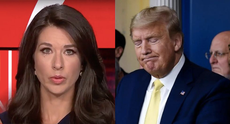 CNN host mocks Trump for pivoting to Fox News and OAN in briefing after real press asks questions about his taxes