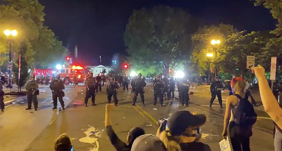 Cars set on fire blocks from White House as DC protests turn violent