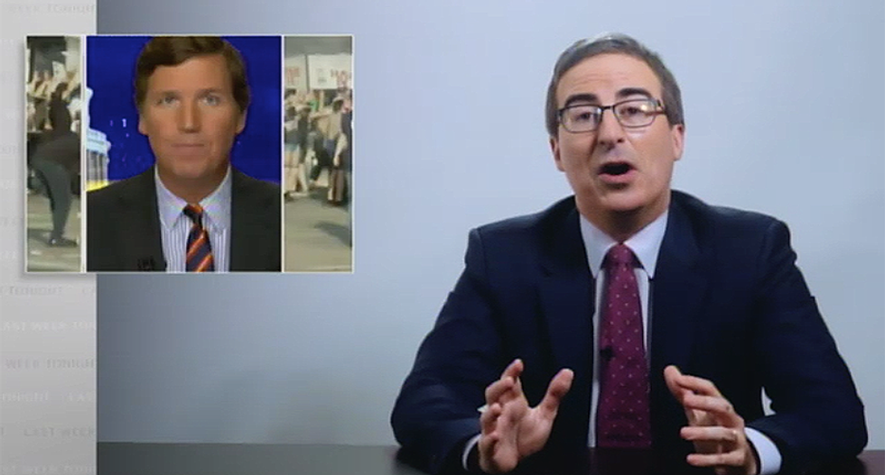 John Oliver rips Fox News' Tucker Carlson for urging 'order' from people of color -- but never demanding it of police