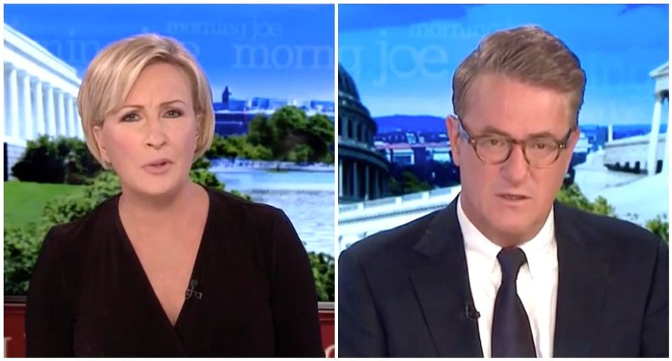'Turned his back on America': MSNBC's Morning Joe and Mika bash Trump for his 'incredible shrinking act' as the country burns