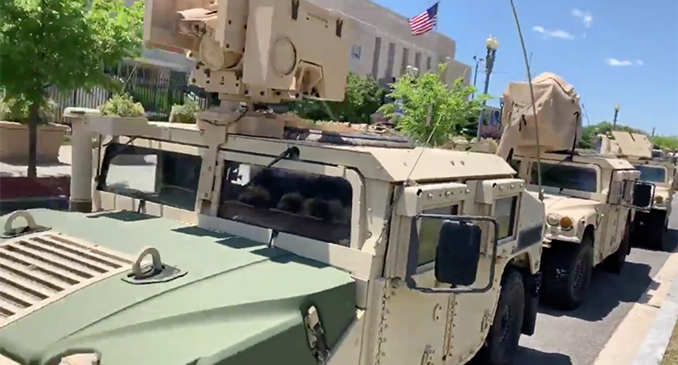 Military rolls into DC to protect the White House from civil rights protesters