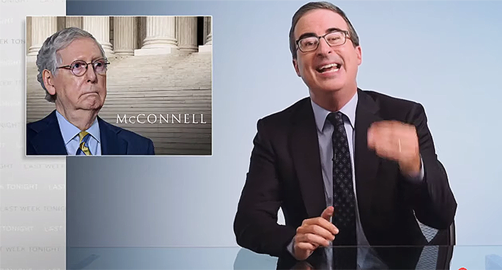 John Oliver explains how Dems can bring the pain to Mitch McConnell -- even if he wins re-election