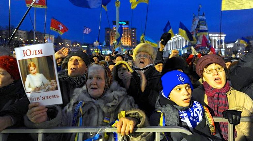 Ukraine lawmakers pass legislation banning some acts of protest