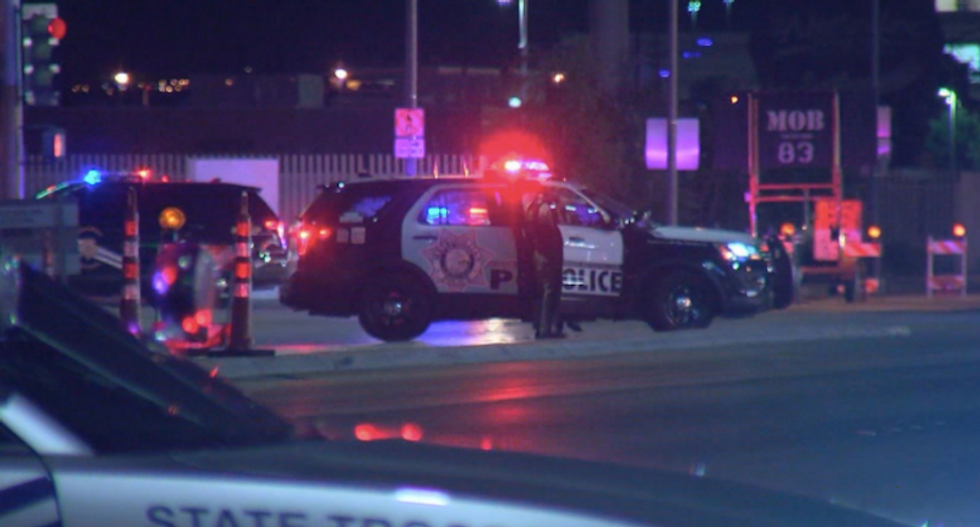 Las Vegas cop on life support and heavily armed suspect dead in separate shootings during protests