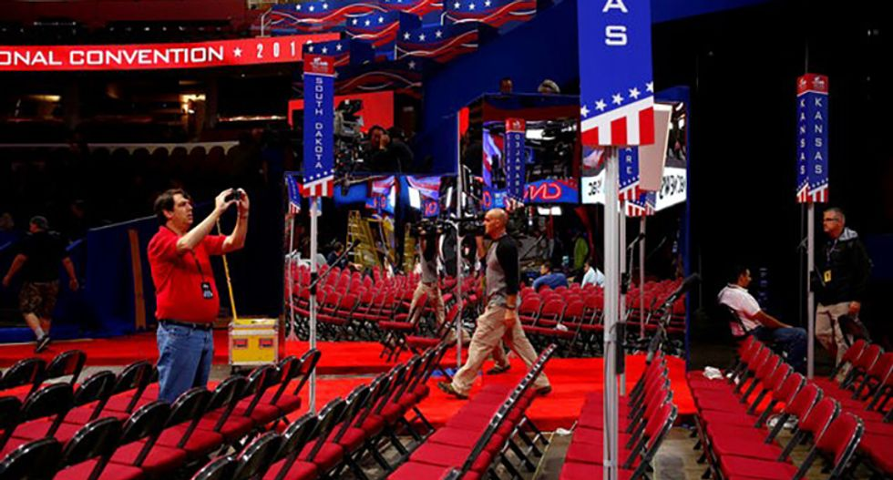 A festival air, and unease, hang over pre-convention Cleveland