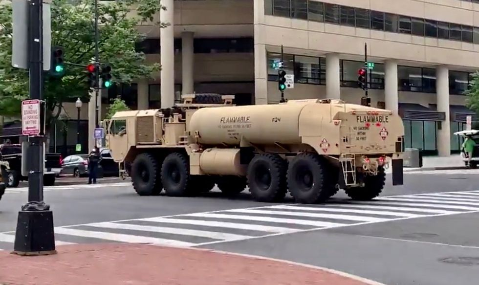 Local DC reporter: 'Major movement of military hardware and personnel' into downtown Washington