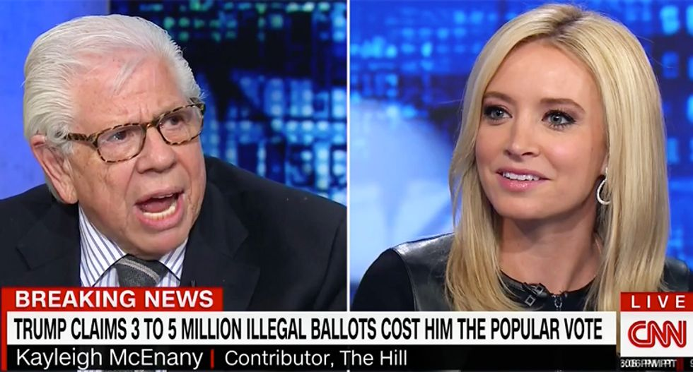 'No proof whatsoever!': Carl Bernstein blows up as Kayleigh McEnany insists there was voter fraud