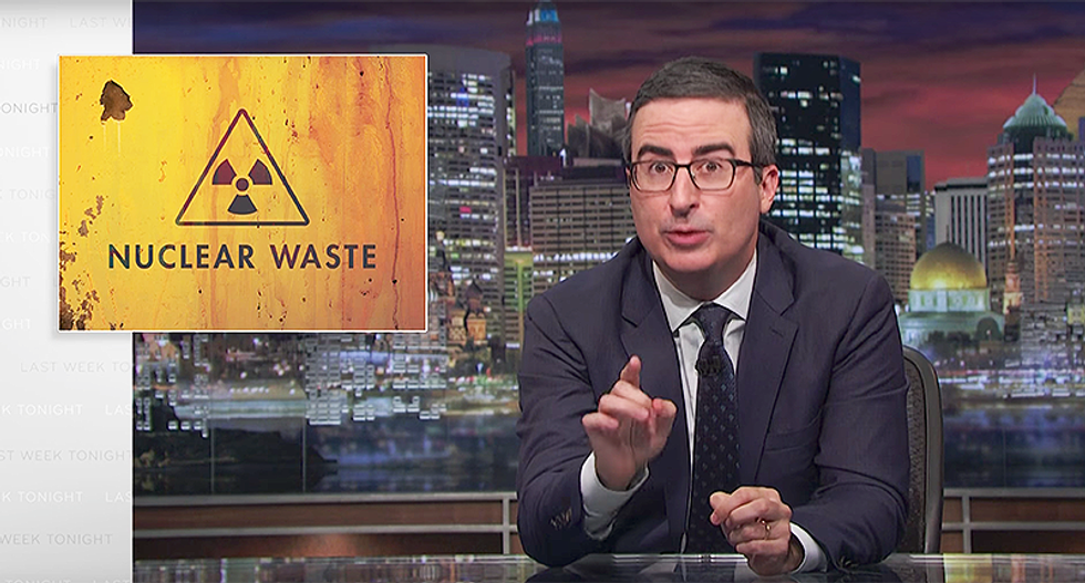 WATCH: John Oliver scares the hell out of Americans warning against nuclear waste Rick Perry is handling