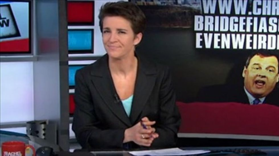 Rachel Maddow: Chris Christie 'rotten and vindictive' political payback scandal deepens