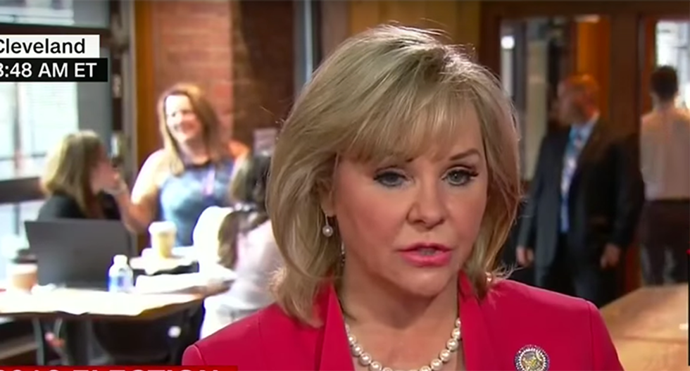 WATCH: Oklahoma Gov. Mary Fallin humiliates herself trying to justify her party's anti-gay platform