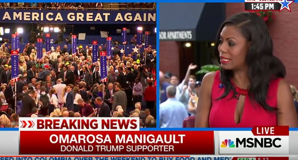 Trump hires 'Apprentice' retread Omarosa after polling bottoms out at zero with black Ohio voters