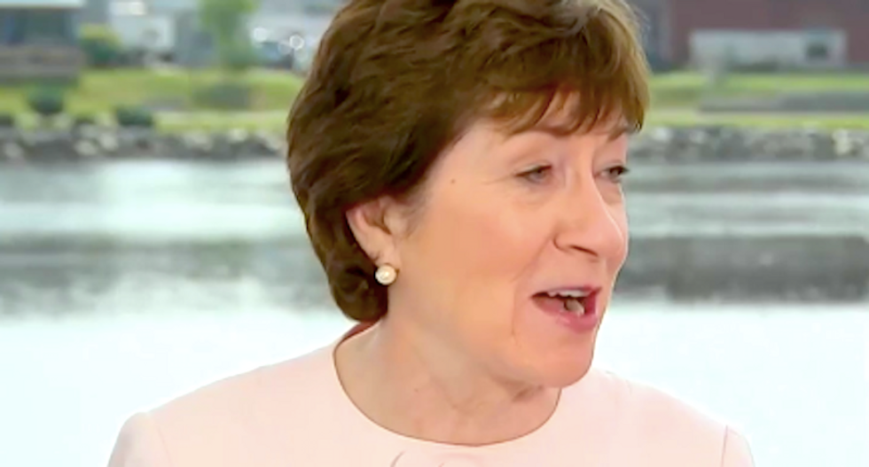 Americans erupt over 'typical disingenuous Susan Collins nonsense' as she acquits Trump's bad behavior