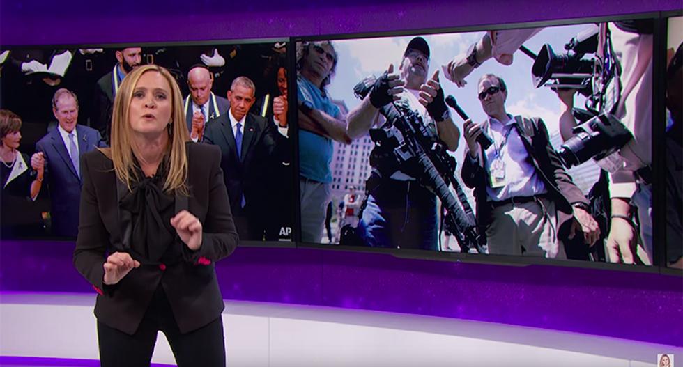 Samantha Bee shreds 'Dollar Store Rambo' at RNC: 'Cleveland police have a hard enough job to do'