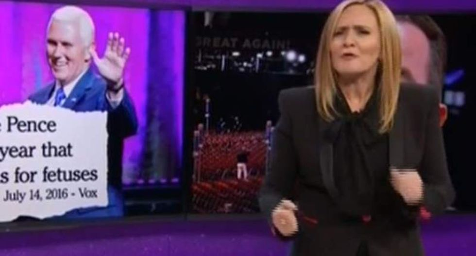 Samantha Bee shreds Pence: Indiana hates him as much as Indiana Jones hates snakes