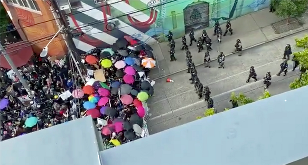 WATCH: 'Let the world know what is going on in Seattle!'
