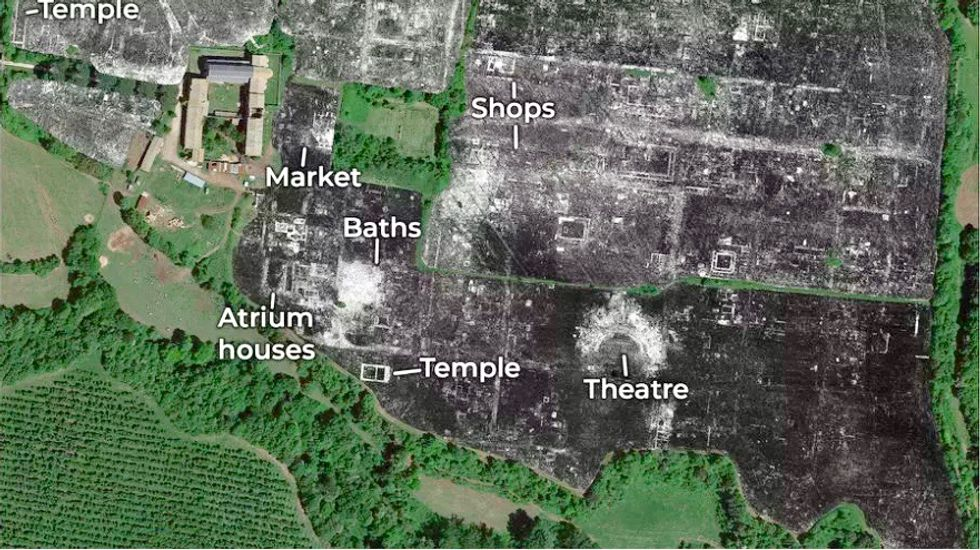 Buried Roman city revealed with ground penetrating radar