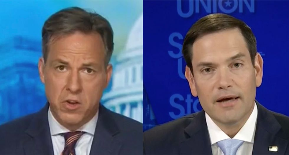 WATCH: Marco Rubio ducks Tapper question if it bothers him Trump broke campaign laws to steal nomination from him