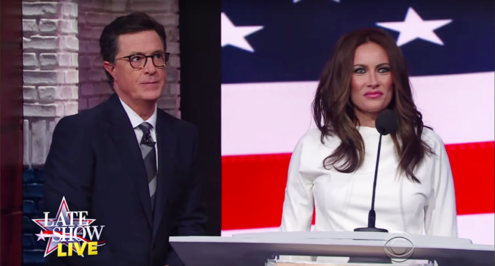 Colbert mocks plagiarism scandal: 'If only someone in the Trump campaign enjoyed firing people'