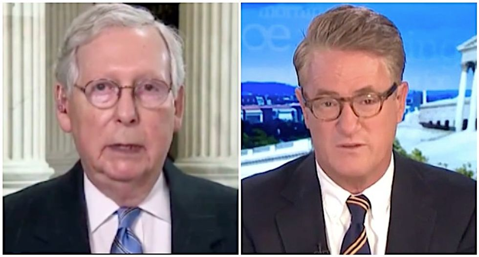 MSNBC's Morning Joe explains why Mitch McConnell suddenly changed his tune on wearing masks