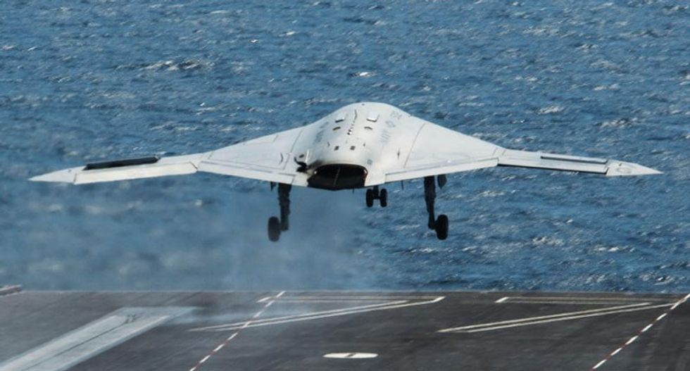 US Navy conducts first drone in-flight refueling