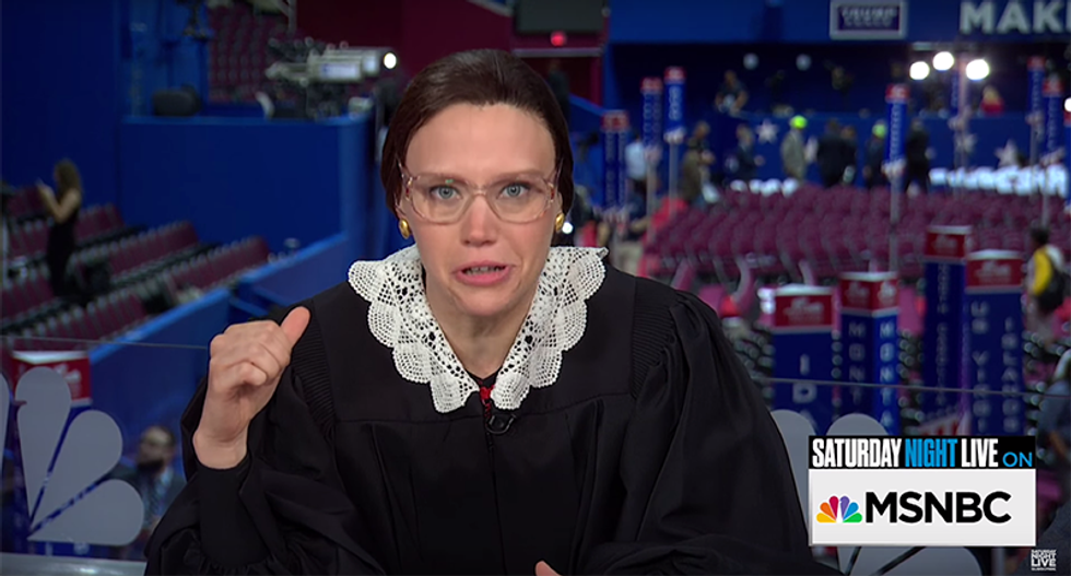 SNL's mock Justice Ginsburg slams Trump: 'If my mind is shot -- his is shot, stabbed and strangled'