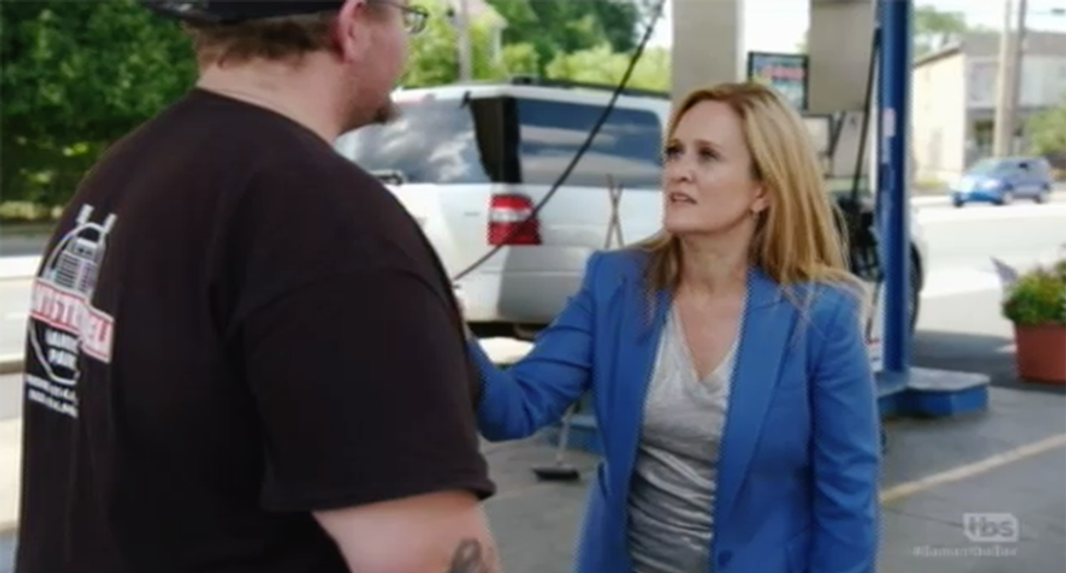 WATCH: Samantha Bee -- and Herman Cain's bus -- meet Trump voters on RNC roadtrip