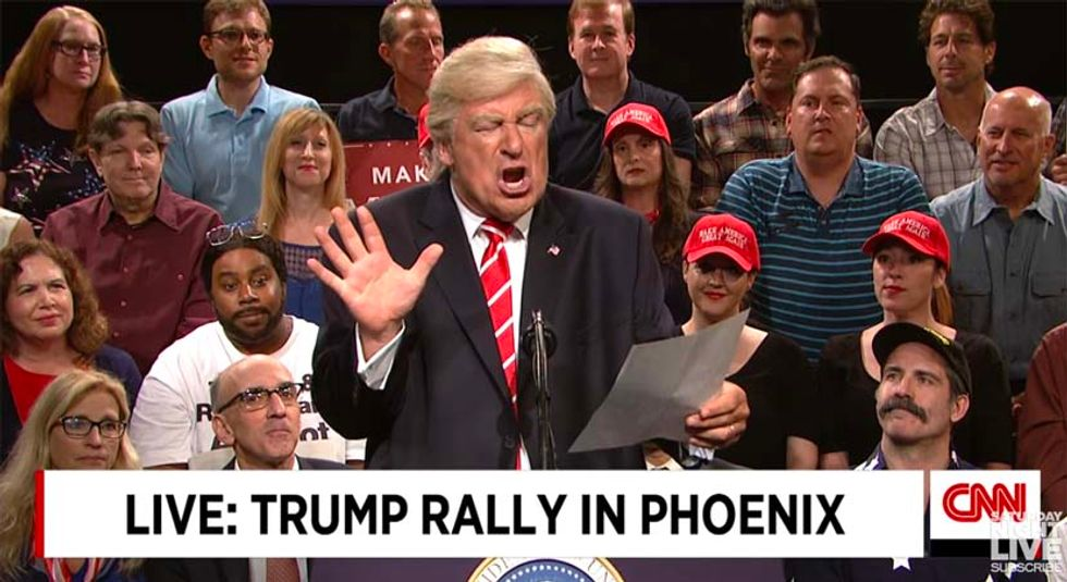 Alec Baldwin returns to SNL as Trump to proclaim himself the real victim of Charlottesville