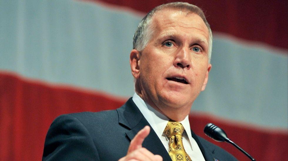 North Carolina's US Senator Thom Tillis collapses at charitable race: AP