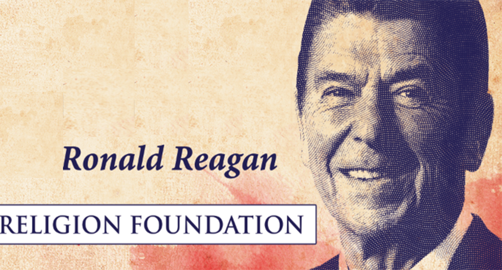 This Ronald Reagan billboard outside the Republican convention is going to infuriate conservatives