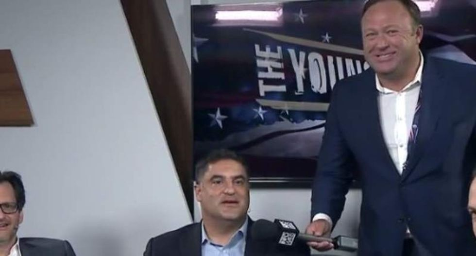 WATCH: Alex Jones crashes 'Young Turks' RNC show -- and chaos ensues