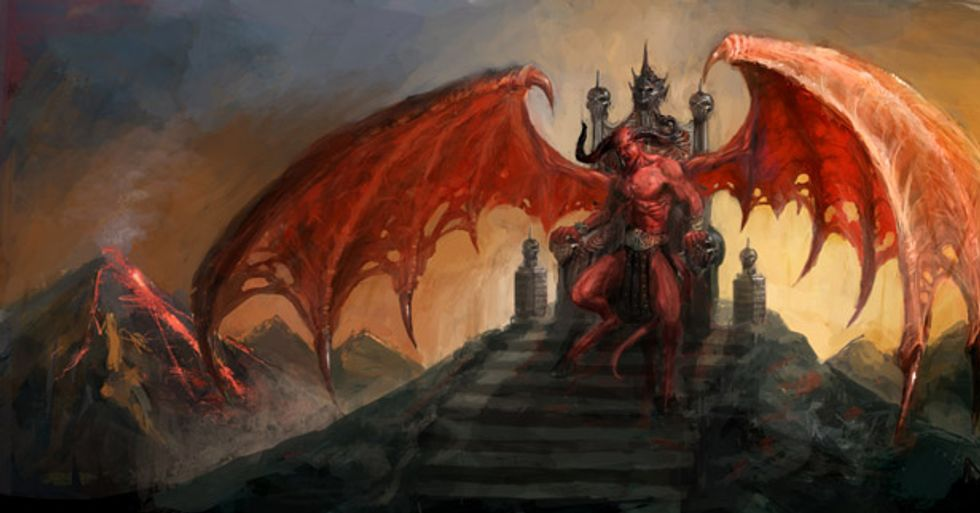 Oklahoma is OK! with Satan statue for next year's family photo War on Christmas cards