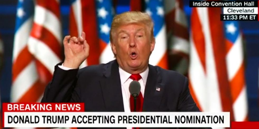 Trump to gays: My prejudiced bigotry will protect you -- you're welcome