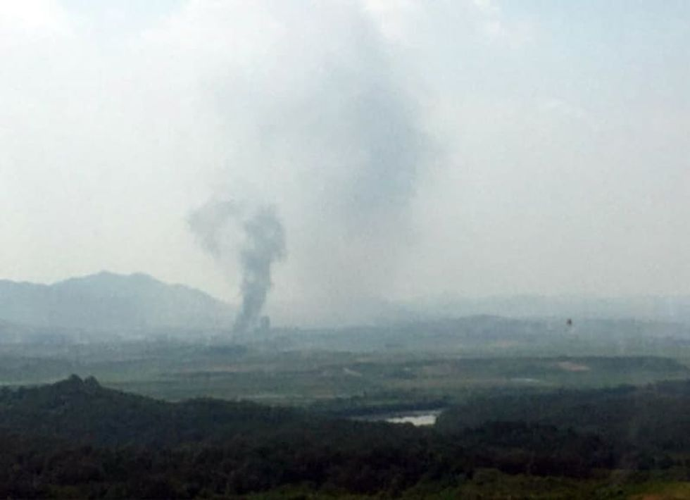 North Korea blows up liaison office used for talks with South Korea