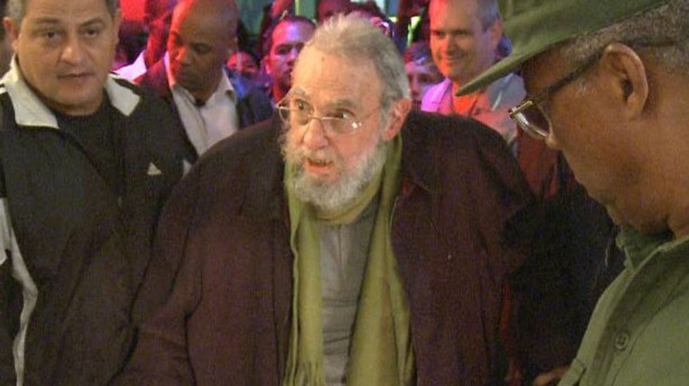 Castro makes first public appearance in nine months