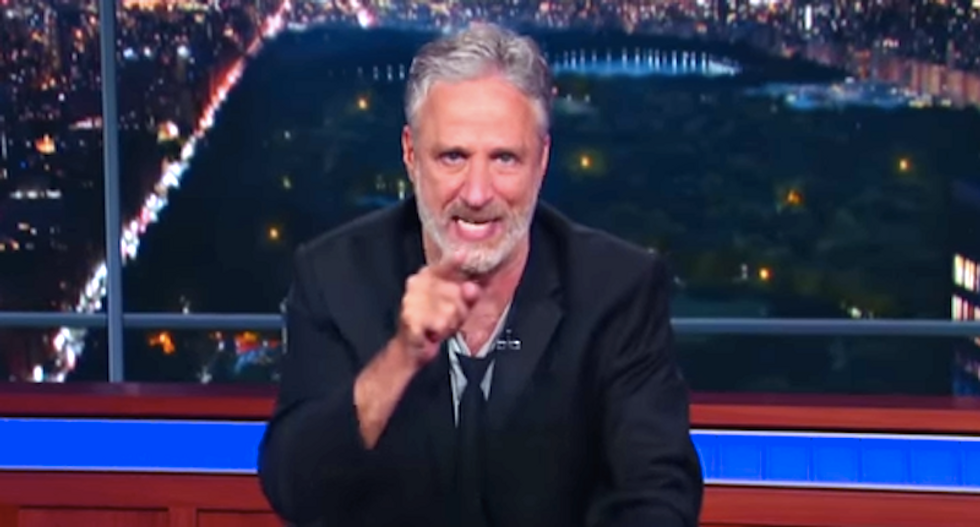 Jon Stewart says Donald Trump 'vomited on everybody for an hour'