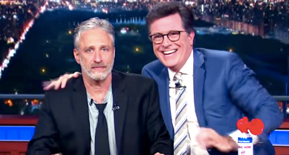 Jon Stewart shreds GOP hypocrites who overlook Trump's flaws: 'I see you — and I see your bullsh*t'