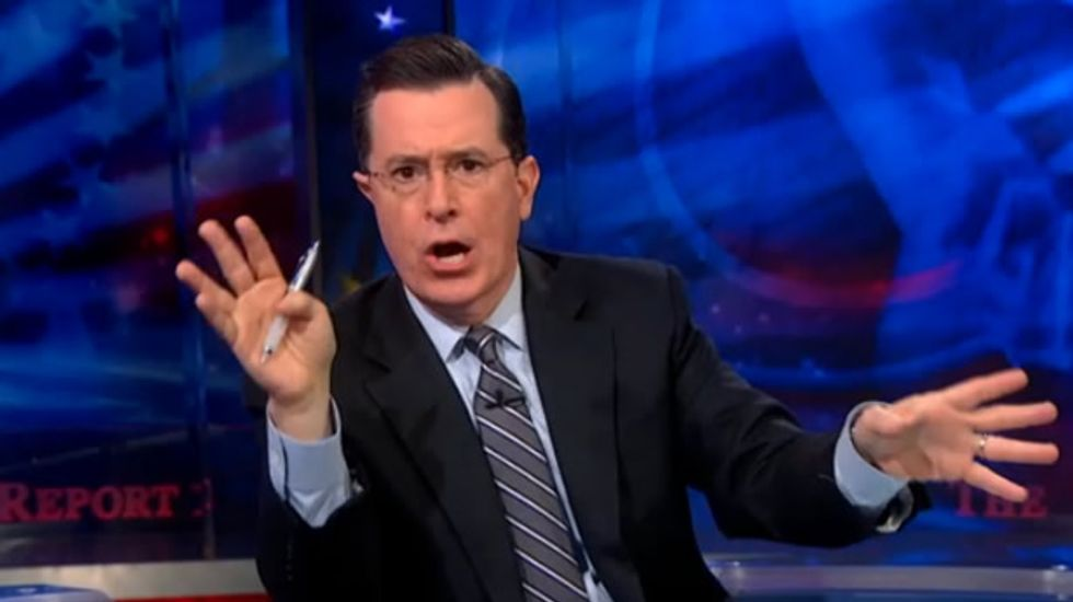 Stephen Colbert: Obama right on Afghanistan, but shouldn't have faked his 'war-gasm'