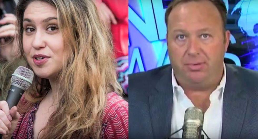WATCH: Alex Jones tells Raw Story he doesn't like Trump 'torture stuff' -- and 'Hillary's a big fat Goblin'