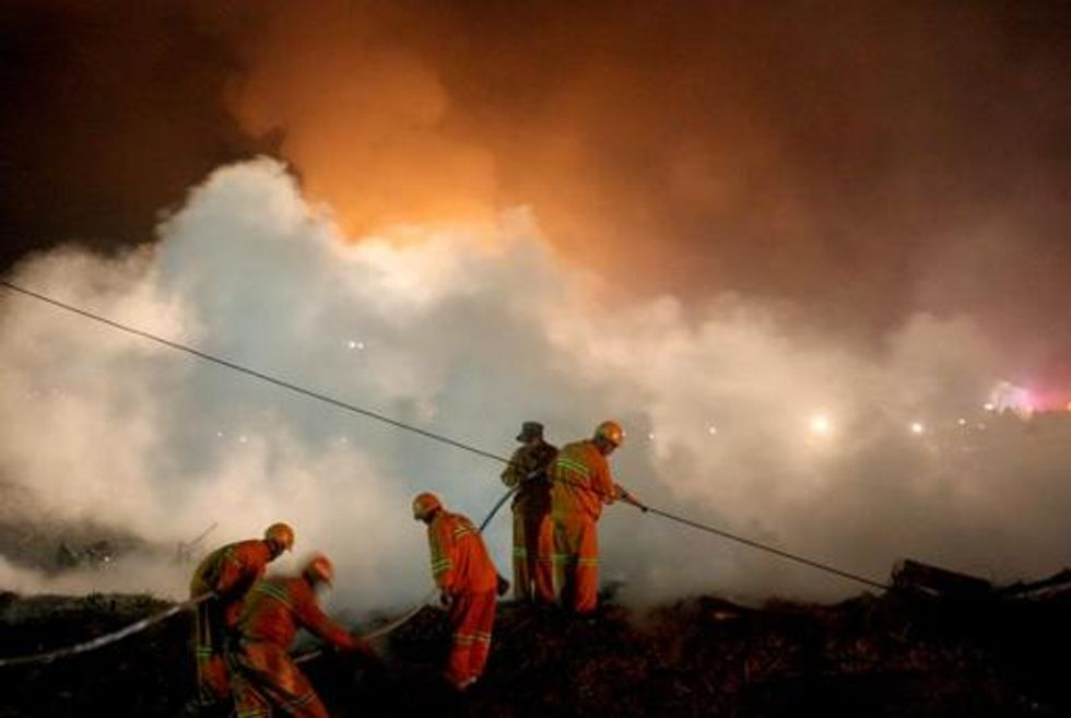 Ancient Tibetan village near Shangri-La partially destroyed in a giant inferno