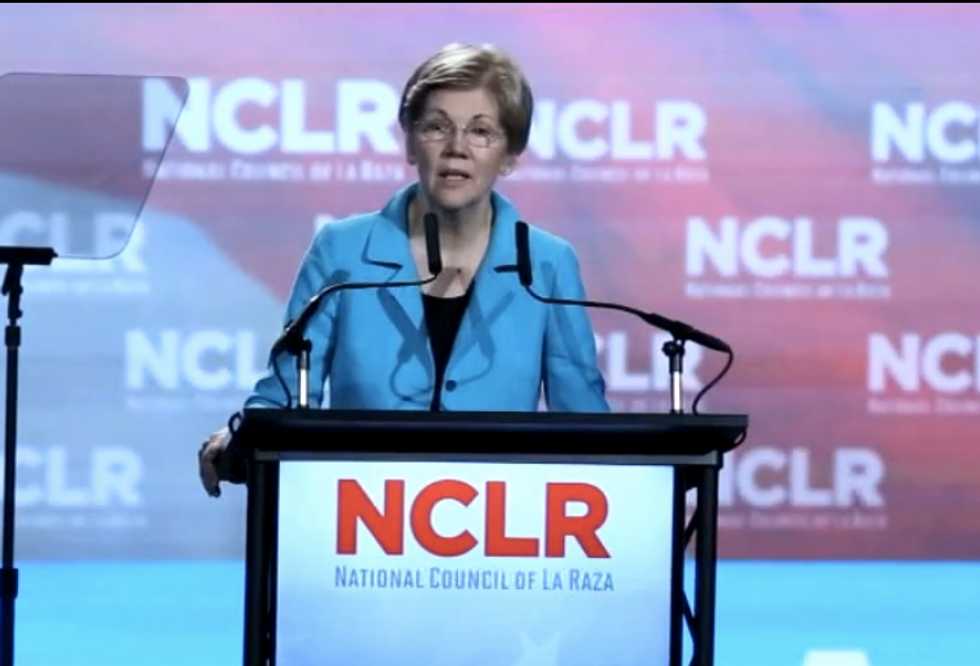 Elizabeth Warren to Hispanic group: Trump was born with 'cash in his fist and hate in his heart'