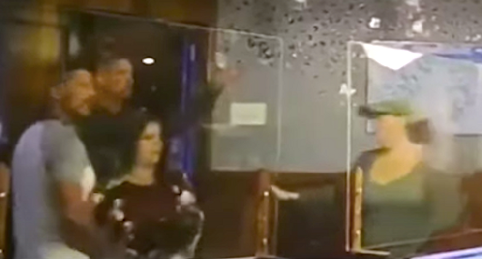 Off-duty cop and friends go berserk in Chinese restaurant over face mask request