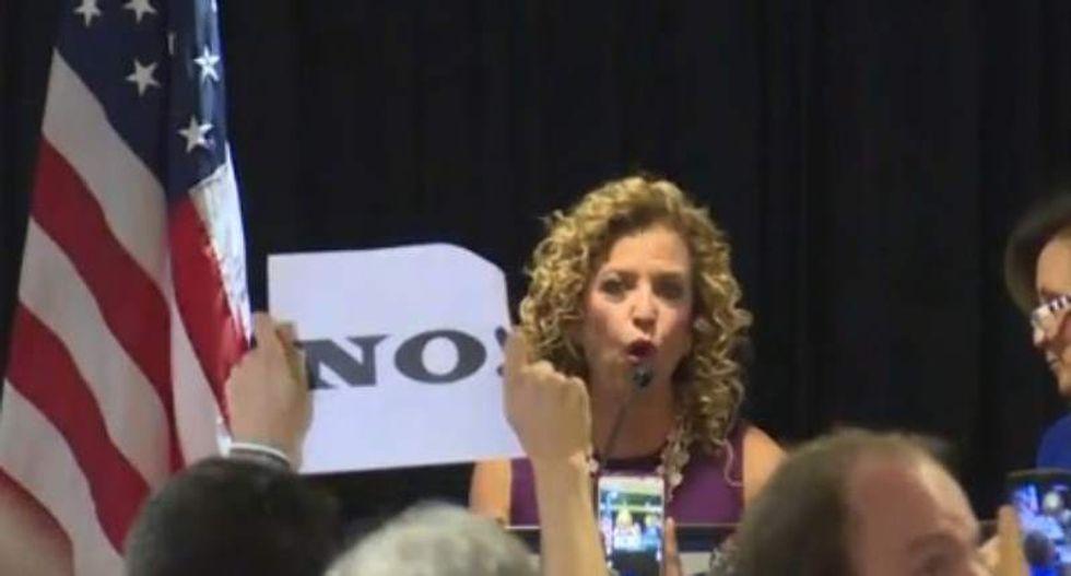WATCH: Debbie Wasserman Schultz gets angrily booed at DNC delegate breakfast
