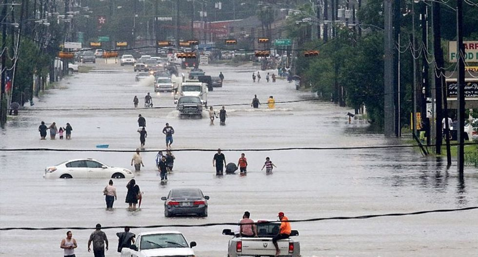 Houston's historically black neighborhoods devastated by flooding, with little safety net